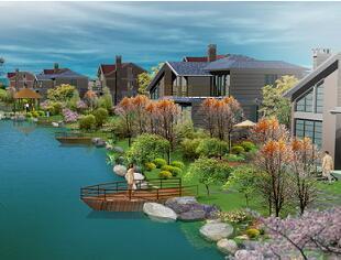 某滨水景观设计效果图