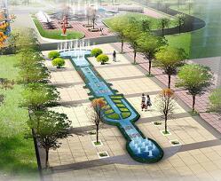 带状喷泉设计效果图