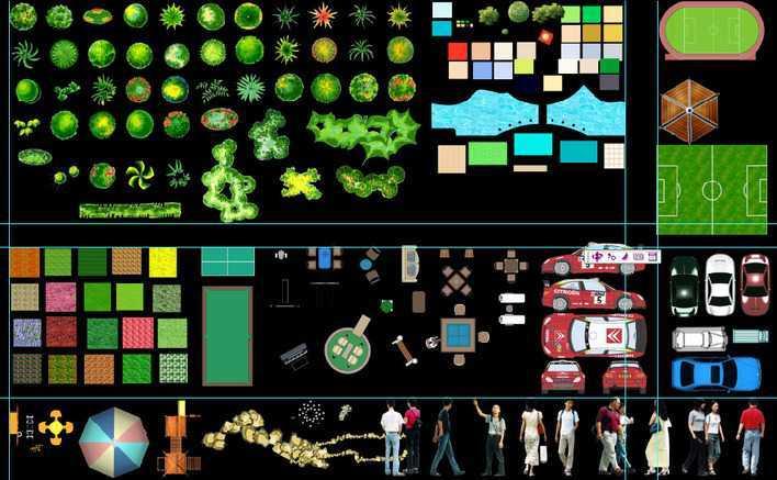 景观设计平面图psd资料