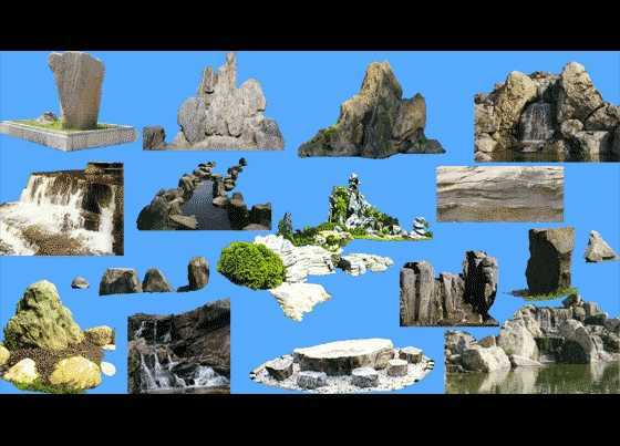 psd假山平面素材免费下载 - 园林景观素材 - 土木工程