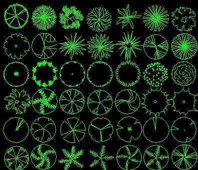 植物图例免费下载 - 园林景观素材 - 土木工程网