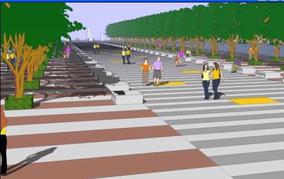 校园入口景观大道设计图免费下载 - 园林景观素材图片