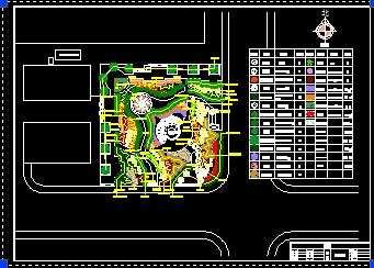居住区小游园设计平面图