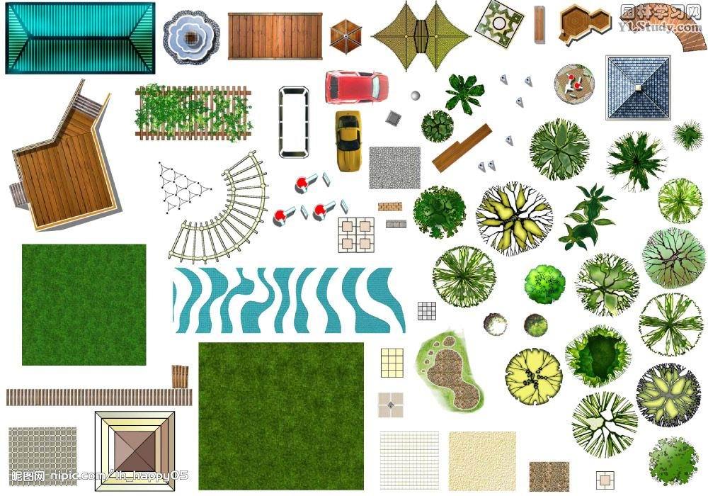 ps园林景观平面图素材