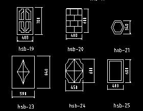花饰板CAD图库