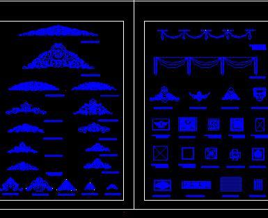 古典装饰线脚CAD图库