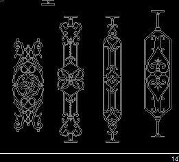 素材CAD图块免费下载-园林景观表格cad铁花整体是跟字一个图片