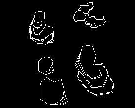 假山石堆CAD图例