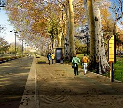 道路景观规划效果图PSD素材