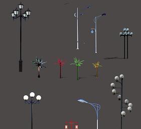 12种路灯PSD形意素材