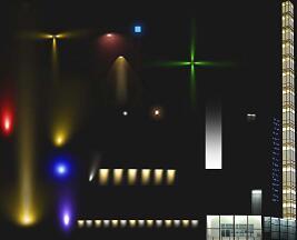 景观照明灯光PSD形意素材