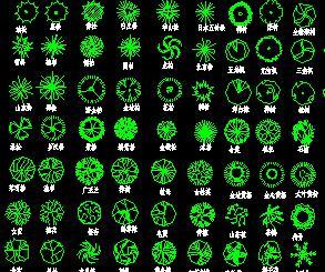 474种园林植物CAD图库
