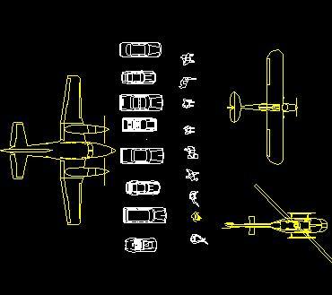 CAD交通工具图库