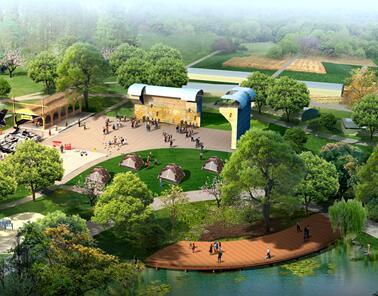 某公园园林景观效果图PSD素材源文件