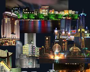 25种城市夜景PSD形意素材