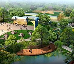 某公园中心广场景观效果图PSD素材源文件