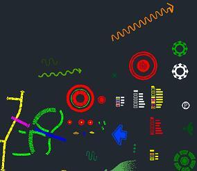 园林分析图标识CAD图库