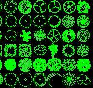 园林树木CAD平面图库