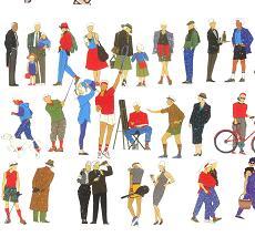 112个园林手绘人物立面素材PSD源文件