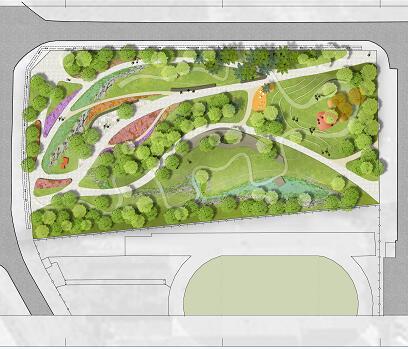 某城市市民广场景观总平面PSD素材源文件