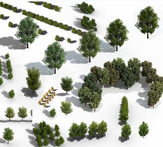 18种园林鸟瞰树木PSD素材源文件
