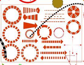 266种分析彩图箭头标识PSD素材源文件