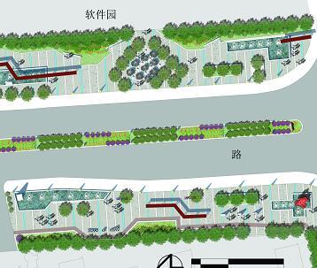 某道路两侧景观设计PSD素材