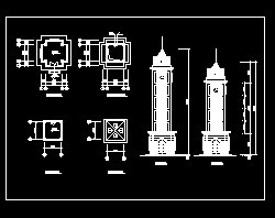 钟楼建筑施工图