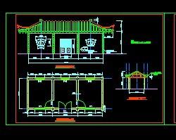 古建筑立面建筑施工图