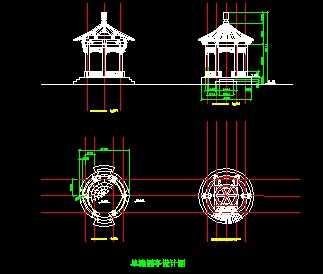 单檐圆亭结构设计图