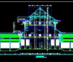 仿古寺庙建筑施工图纸