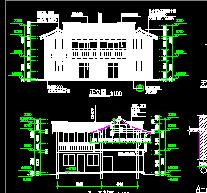 仿古唐民居风景区建筑设计图纸