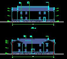 仿古阁楼建筑施工图纸
