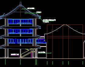 图纸四合院建筑设计徽派(含宾馆,v图纸,戏楼,茶图纸铭曹妃甸筑恒旺区图片