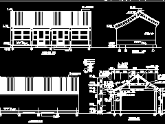 仿古四合院建筑设计图纸