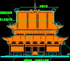 仿古大雄宝殿建筑施工图纸