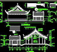 仿古财神殿建筑设计图纸