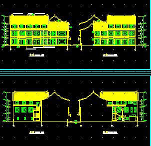 仿古清式三层公建建筑施工图