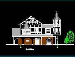 法式风情小镇园林建筑施工图纸
