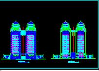 双子塔综合大楼仿古建筑施工图纸