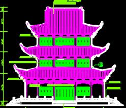 阁楼古建筑施工图