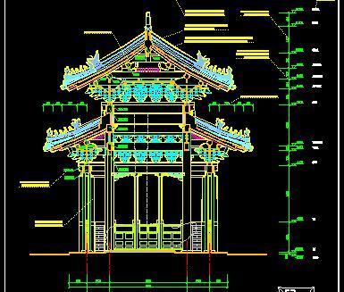 孔庙碑亭古建筑施工图纸