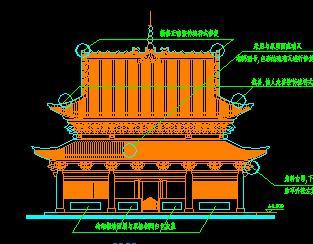 某寺庙古建筑设计图