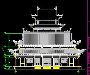 大雄宝殿古建筑施工图纸
