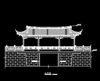 木结构廊亭古建筑施工图纸3