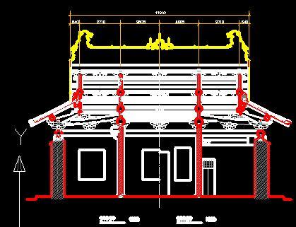 宫殿古建筑施工图纸