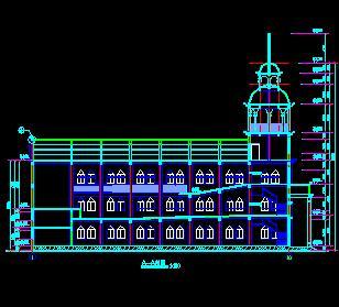 某三层教堂仿古建筑施工图纸