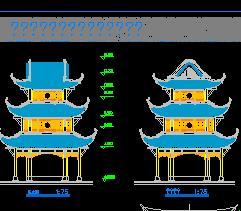 某寺庙三层飞檐佛殿古建筑施工图纸