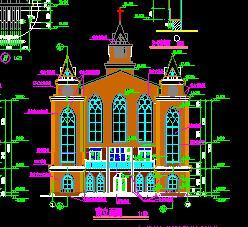 某二层教堂仿古建筑施工图纸
