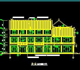 三层清式百货商场仿古建筑施工图纸